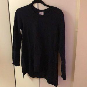 Wilt navy cotton long-sleeved shirt